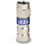 RG6 F connector universal locking compression fitting PCTTRSXL6LMG