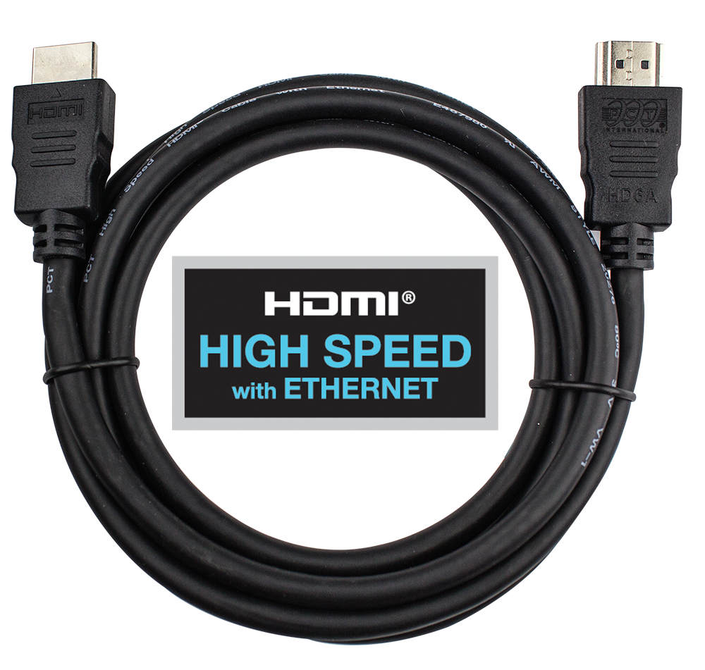 High Speed Hdmi Cable With Ethernet Pcthd6ap1 Pct Store Hdm1 Cabel Hd 6a P1