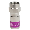RG6 F connector universal plenum compression fitting PCTTRS6P
